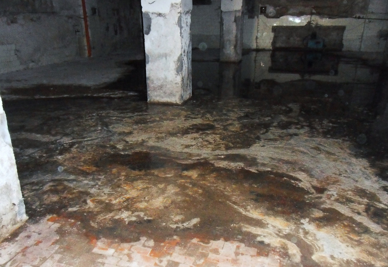 sewer backup cleanup and remediation diresco